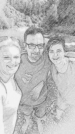 Das Leiterteam: Michèle, Dani und Evi